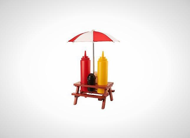 Backyard Umbrella Condiment Set $11