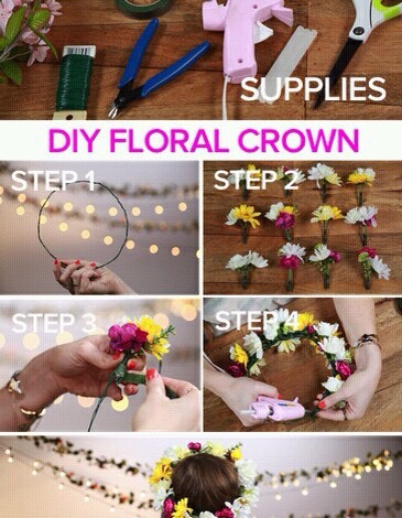 Diy Coachella Flower Crown Tutorials 👑🌸🌸🌸