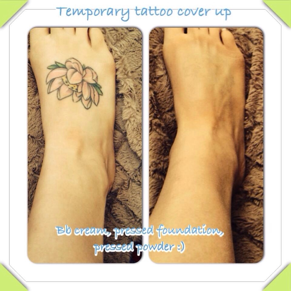 Temporary easy tattoo cover up trusper for Tattoo foundation cover up