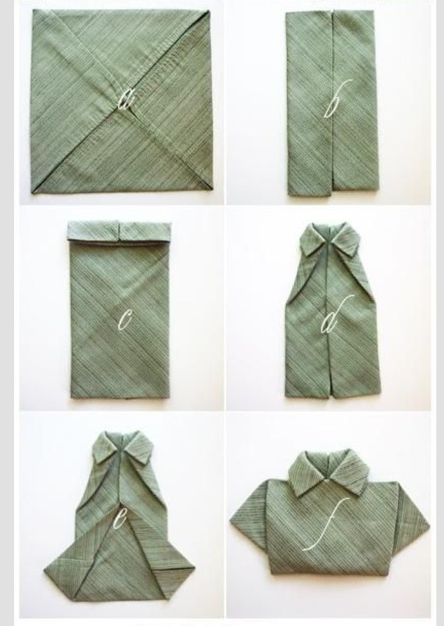 Creative ways to fold napkins trusper - Pliage serviette chemise ...