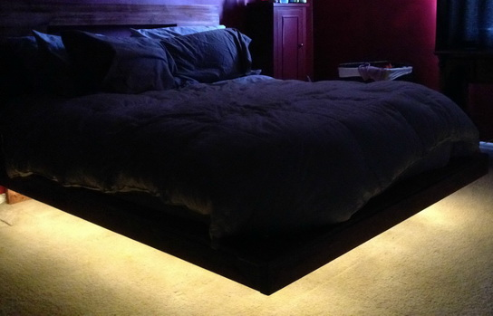 How To Build A Floating Bedframe With Led Lighting Trusper