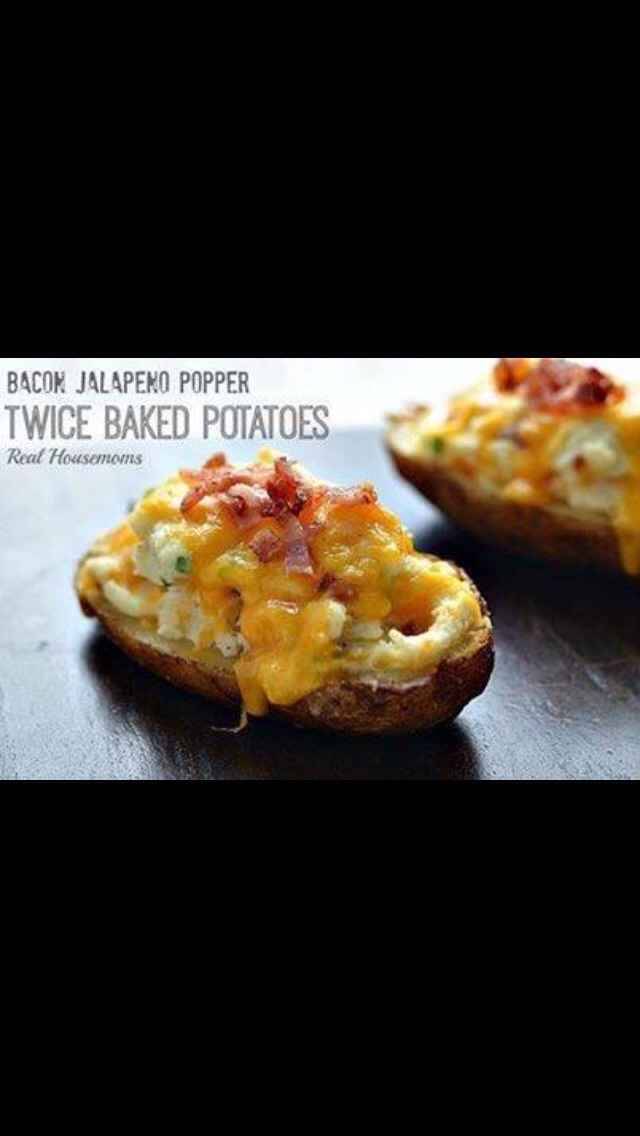 Bacon Jalapeno Popper Twice Baked Potatoes Recipe | Trusper