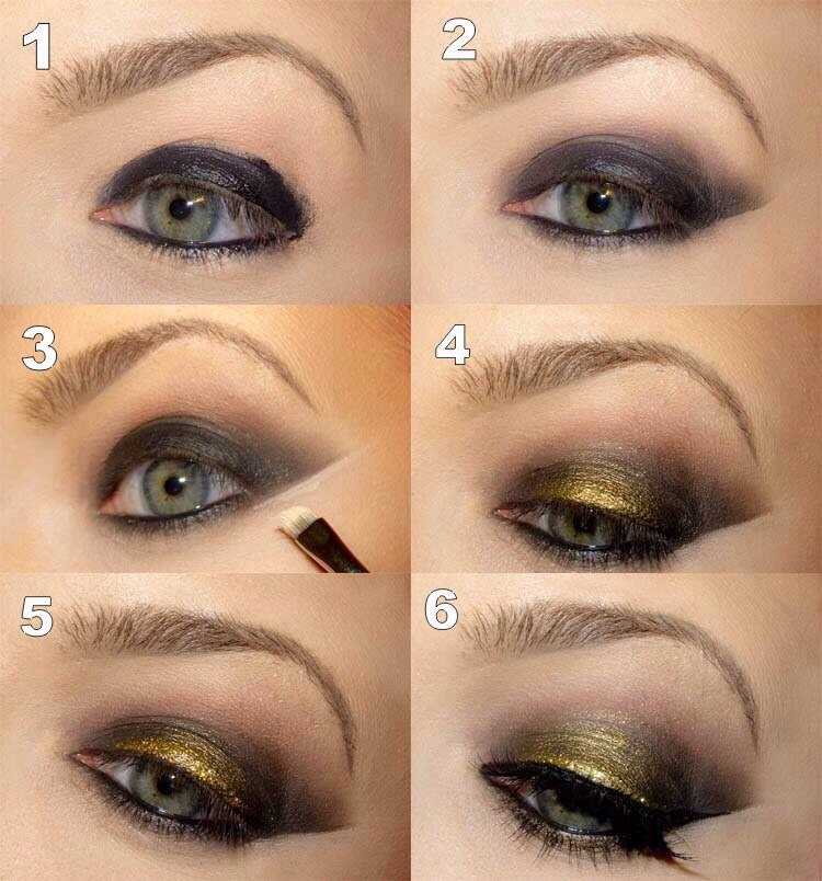 How To Do A Golden Make Up And Smokey Eye 👌 | Trusper