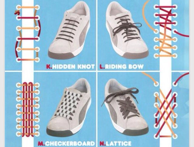 Cool Ways To Tie Shoe Laces