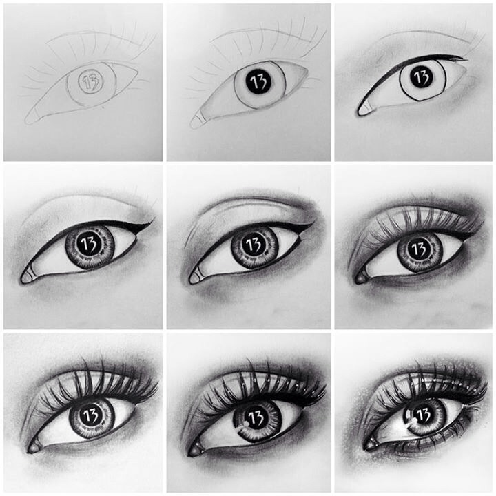 How To Draw A Real Eye Step By Step | Trusper