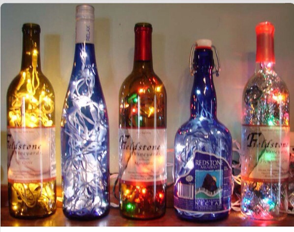 Decorative and classy diy lighted wine bottles trusper for Glass bottles with lights in them