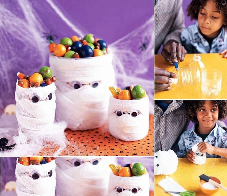 Easy Halloween Craft For Kids Using Plastic Bottles
