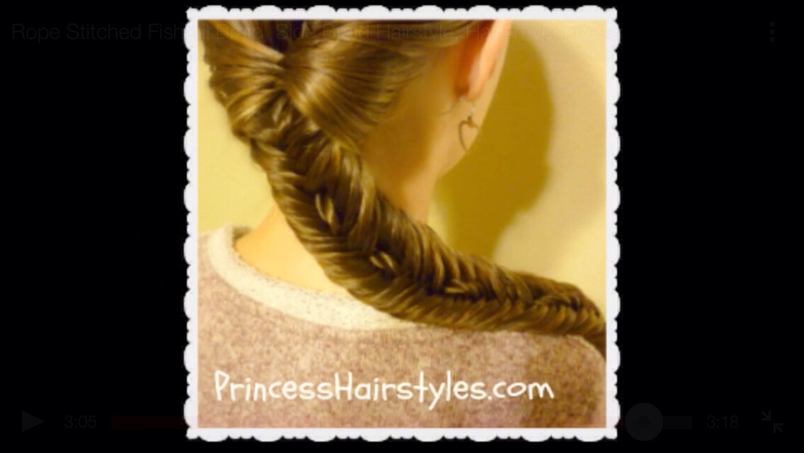 Know rope stitched fishtail braid side braid hairstyle tutorial Prom hairstyles updos