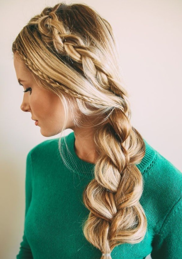 Beautiful hairstyle pics step by step : Beautiful braided hairstyle step by trusper