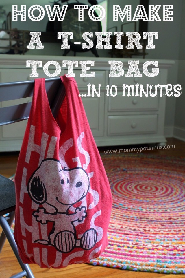 How To Make A T-shirt Tote Bag In 10 Minutes 💫 #tipit