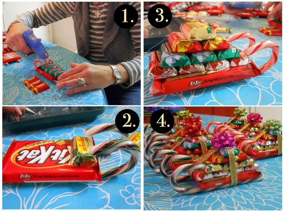 Candy sleighs tipit trusper for Edible christmas gifts to make in advance
