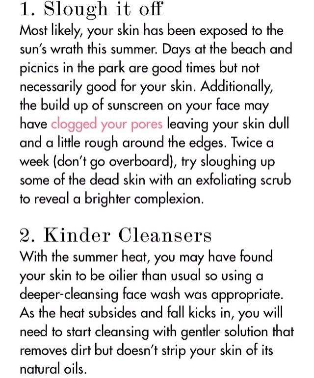 Fall Skin Care Tips 🍃