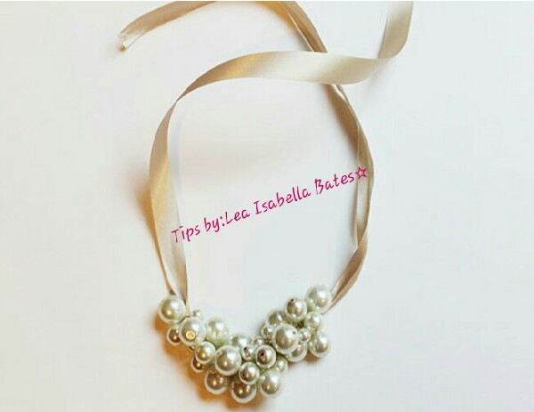 DIY Pearl Cluster Statement Necklace! #Tipit