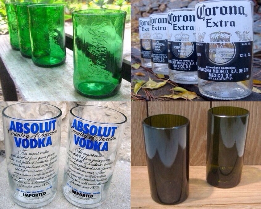 Some ideas you can do with cut bottles for What can i do with glass bottles