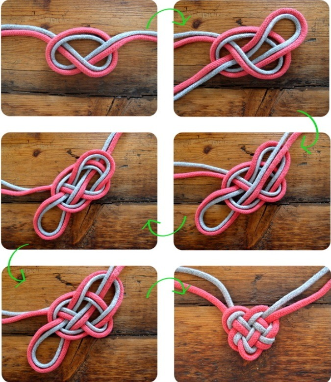 how to make a slip knot with two strings