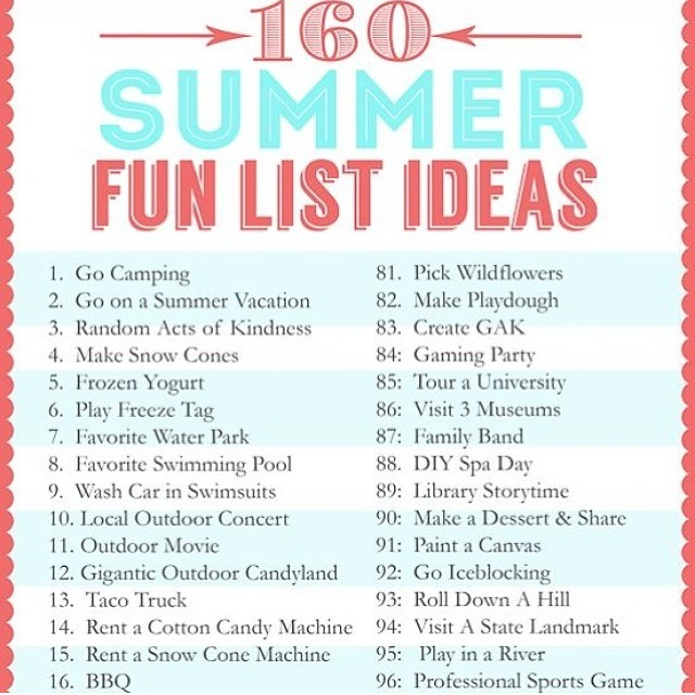 160 Fun Ideas To Do During Summer If You 39 Re Bored Trusper