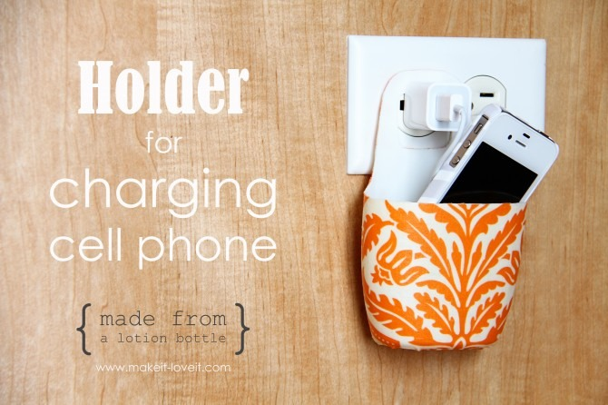 Turn An Old Lotion Bottle Into A Cute Phone Holder