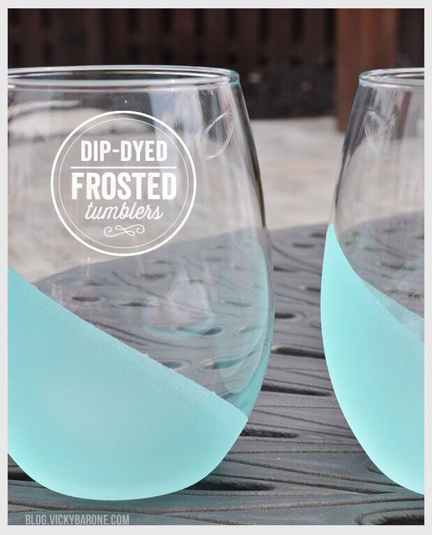 ❤️DIY Frosted Glass Tumblers❤️