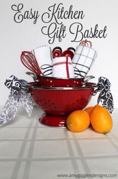 fun amp creative diy gift basket ideas trusper christmas gift idea for the kitchen lover cherished bliss