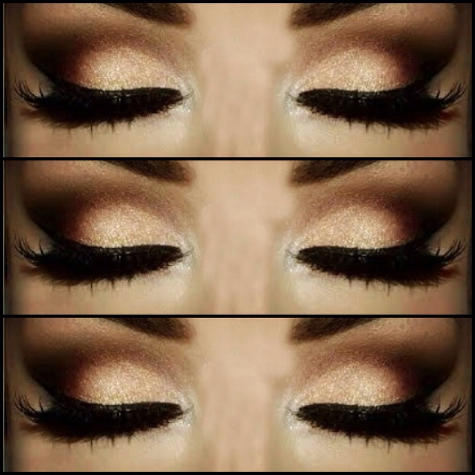 TUTORIAL: Brown And Gold Smokey Eye | Trusper