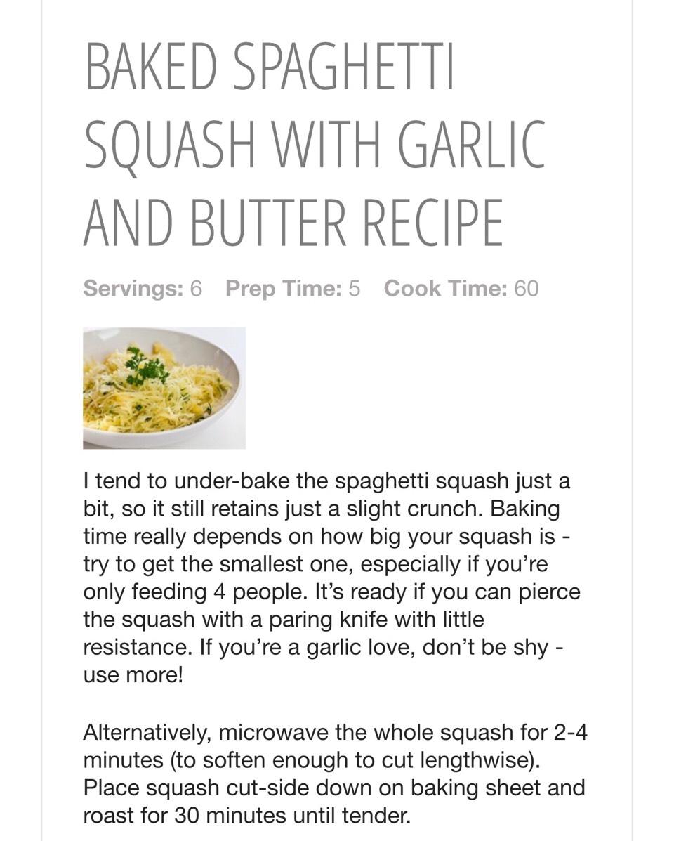 Baked Spaghetti Squash With Garlic And Butter Recipe | Trusper