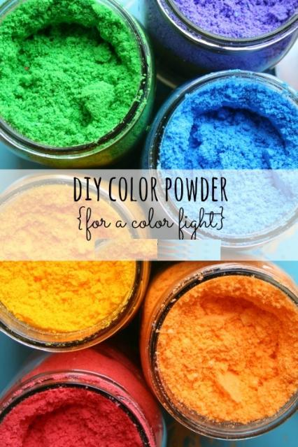 DIY Color Powder To Play On Color Festival