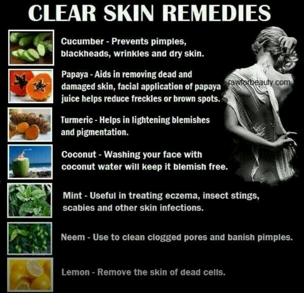 how to clear face with natural remedies
