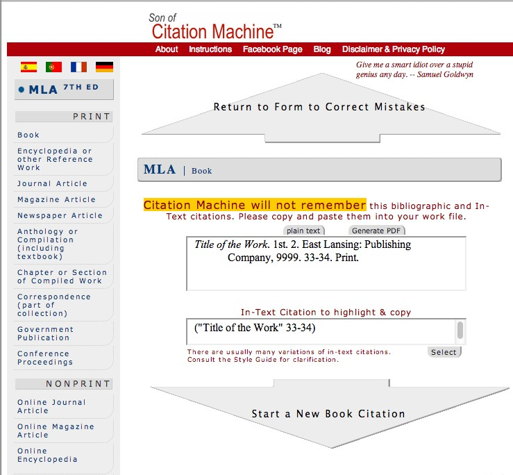 is citation machine accurate
