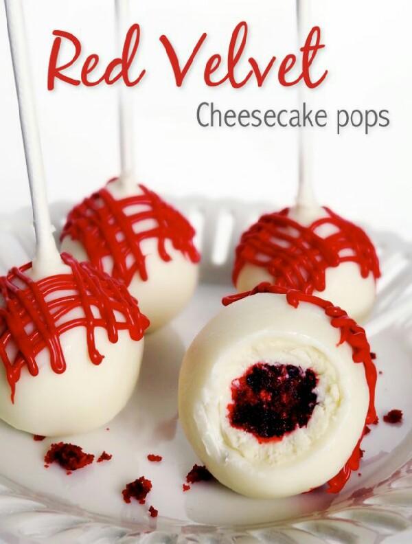 Red Velvet Cheesecake Pops! #tipit