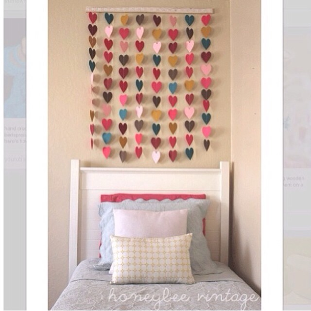 Wall Decor With Construction Paper : Heart bedroom wall decor trusper