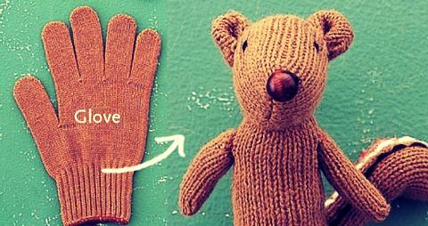Turn A Glove Into A Chipmunk! 😍
