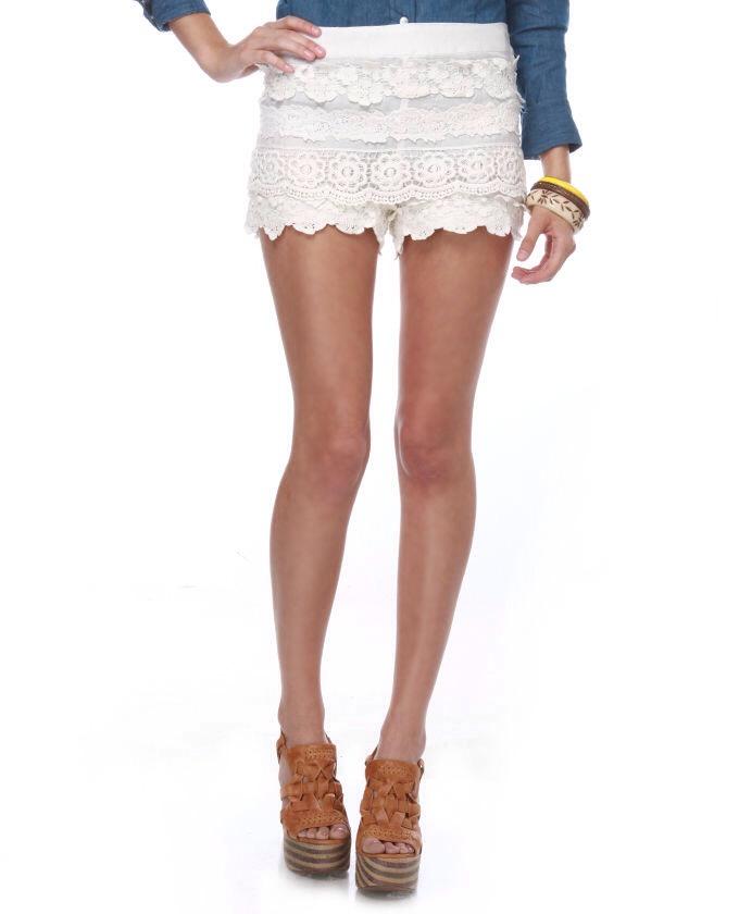 Lace Shorts - Df Ba Bbb A