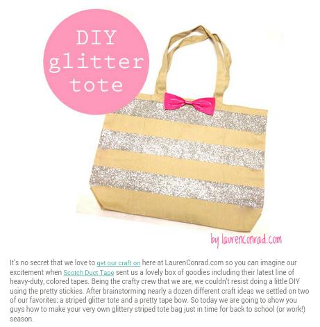DIY Glitter Tote!!
