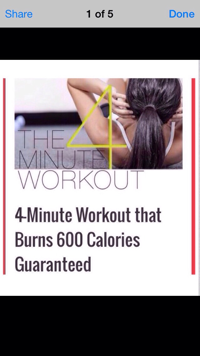 lose some calories in just 4 mins wow!!