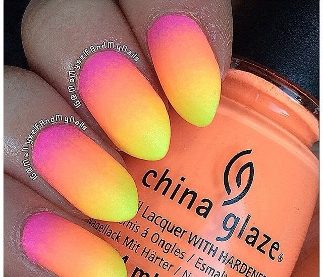 Colorful Ombré Nail Designs