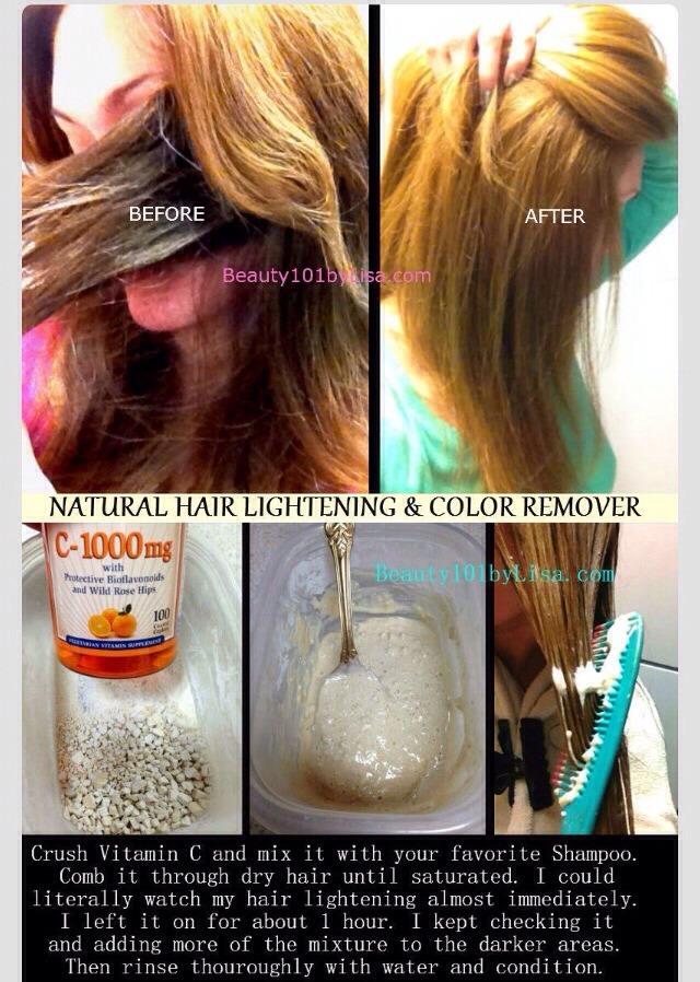 How To Make Natural Hair Lightner