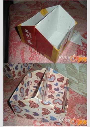 Как сделать корзинку из коробки из под обуви