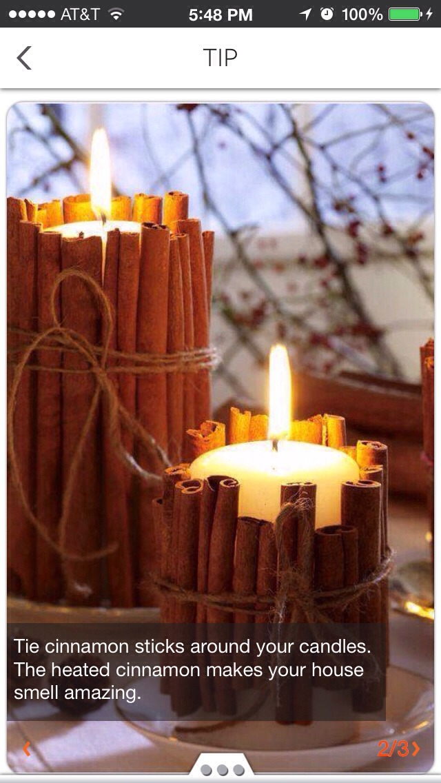 Cinnamon Candle Idea Trusper