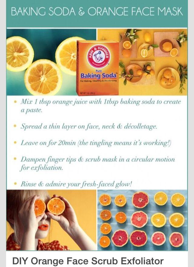 Baking soda orange mask works wonder trusper - Baking soda the powder that works wonders at home ...