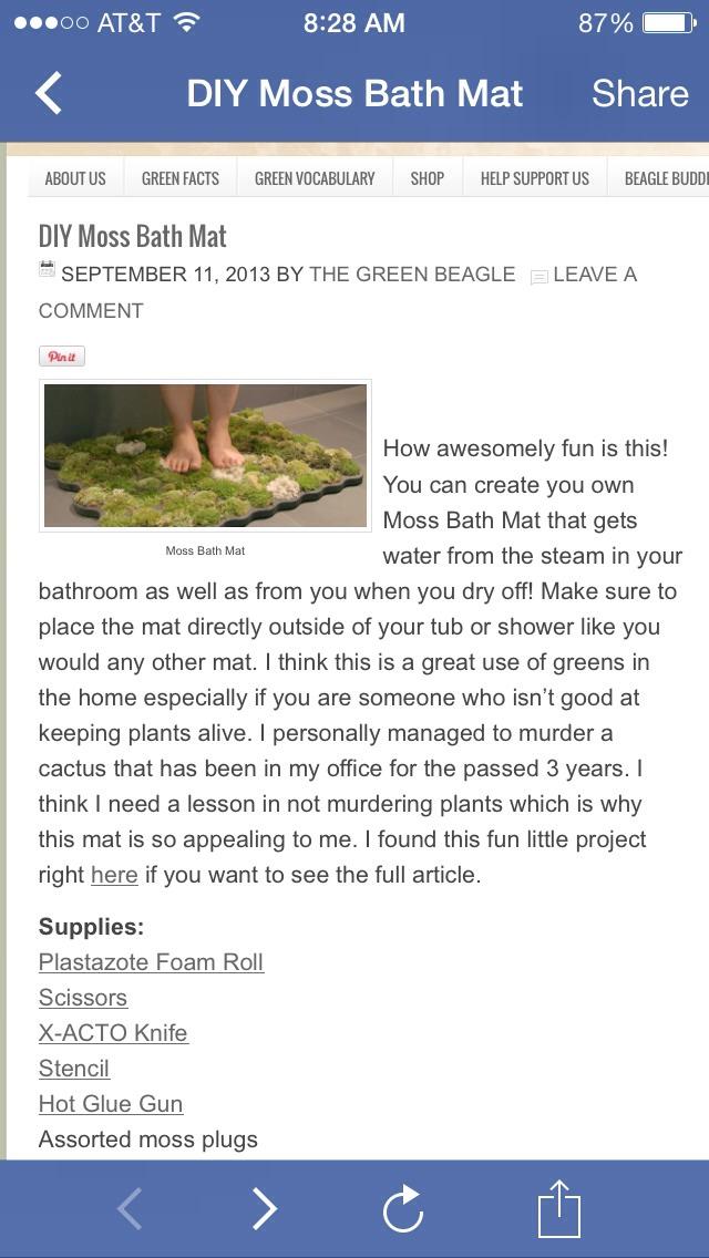 How to make a living moss bath mat trusper for Make a moss bath mat