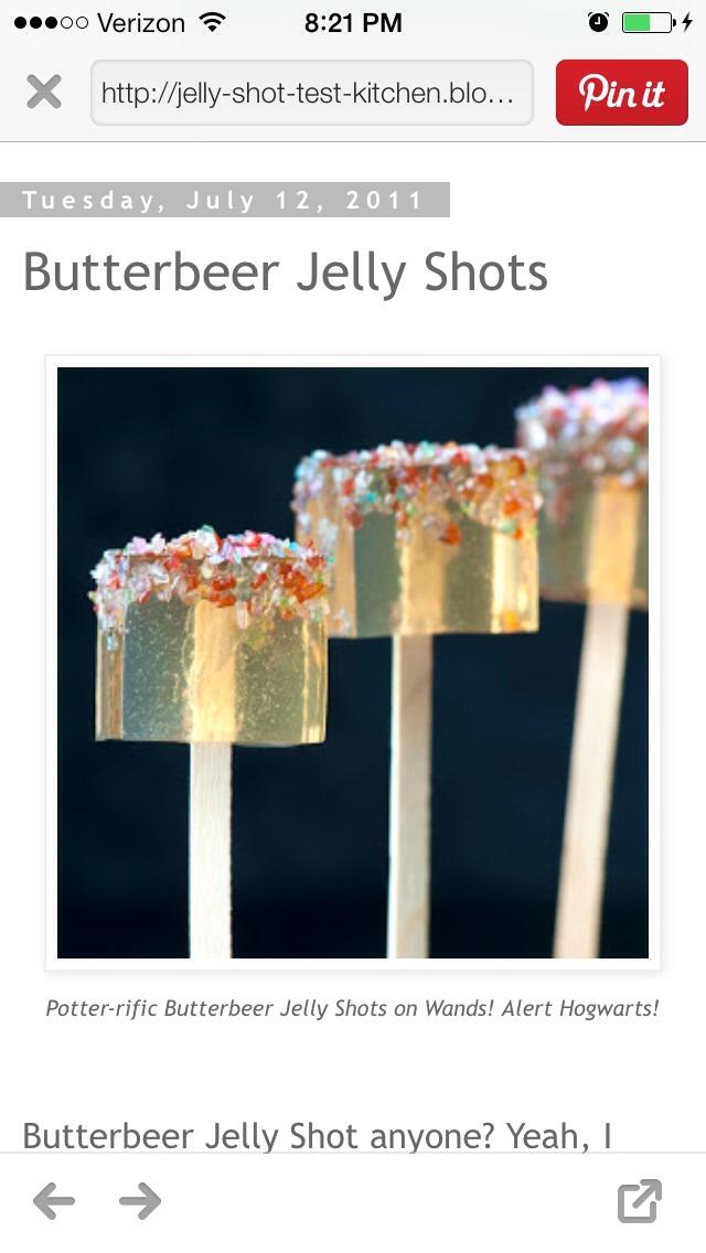 Butterbeer Jello Shots | Trusper