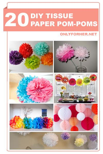 how do you make tissue paper balls Introduction: tissue paper pom poms you will need roughly 20 sheets (i love the look of varying colors and even cool printed tissue paper will do.