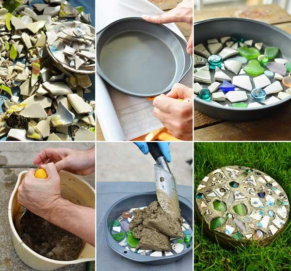 Diy garden stepping stone projects trusper for Diy stone projects
