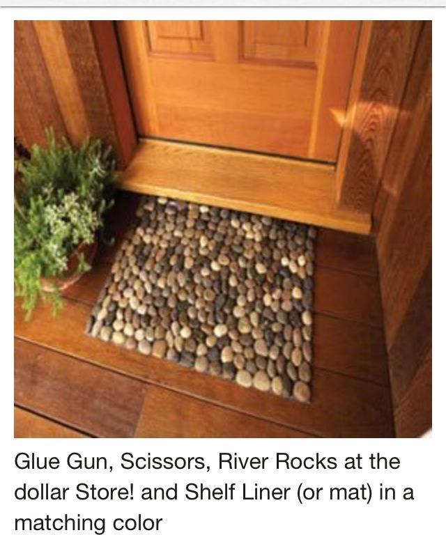 DIY Door Step Mate Made Of Rocks