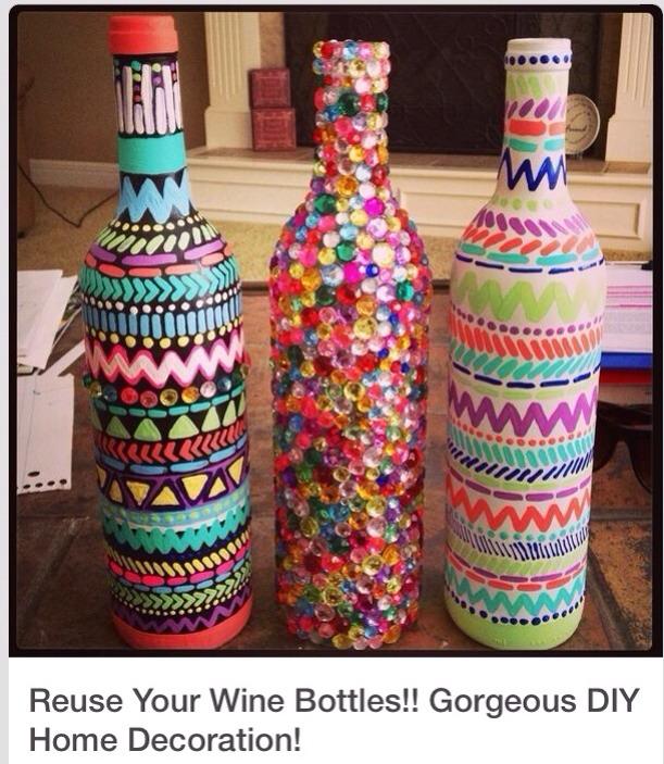 Reuse Wine Bottle Gorgeous Diy Home Decorations Trusper