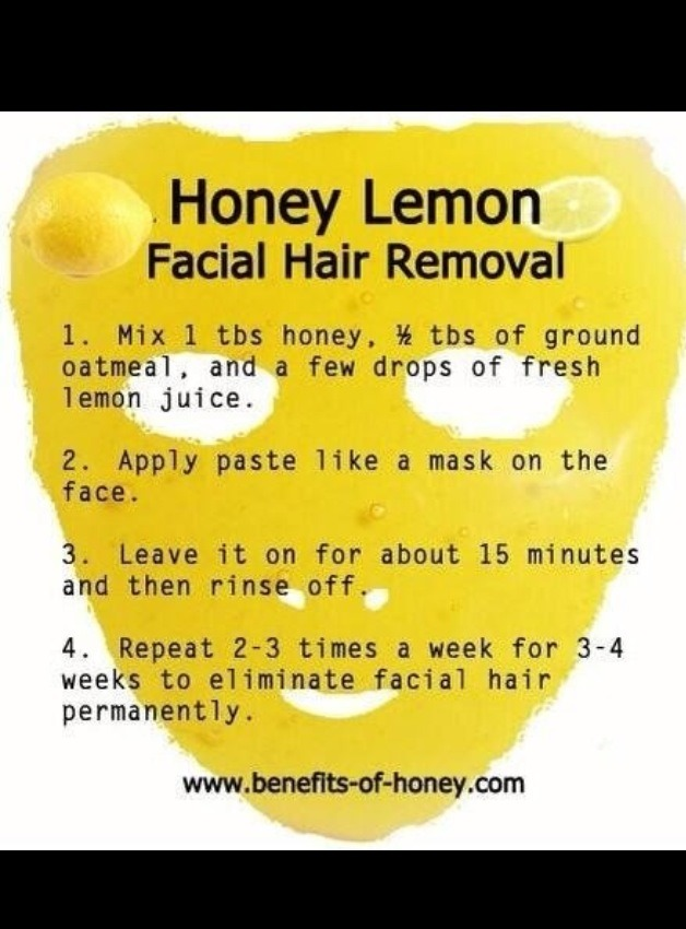 Natural Facial Hair Removal Diy