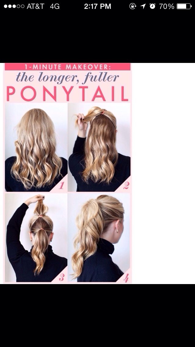 how to make your ponytail look longer with short hair