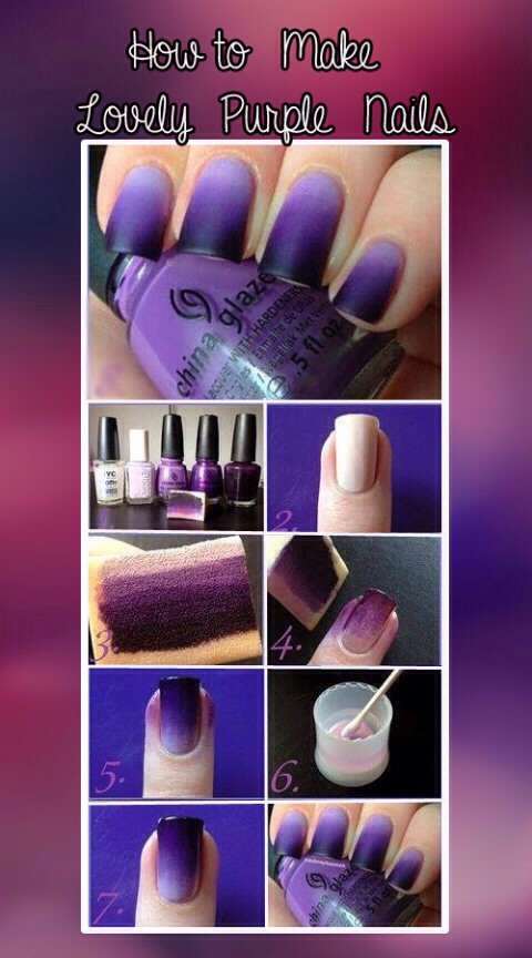 Purple Ombre Nail Art Tutorial