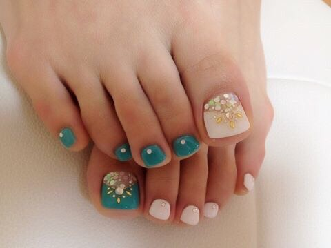 Pretty Pedicure Nail Art Ideas! Nail Styles And Nail Polish