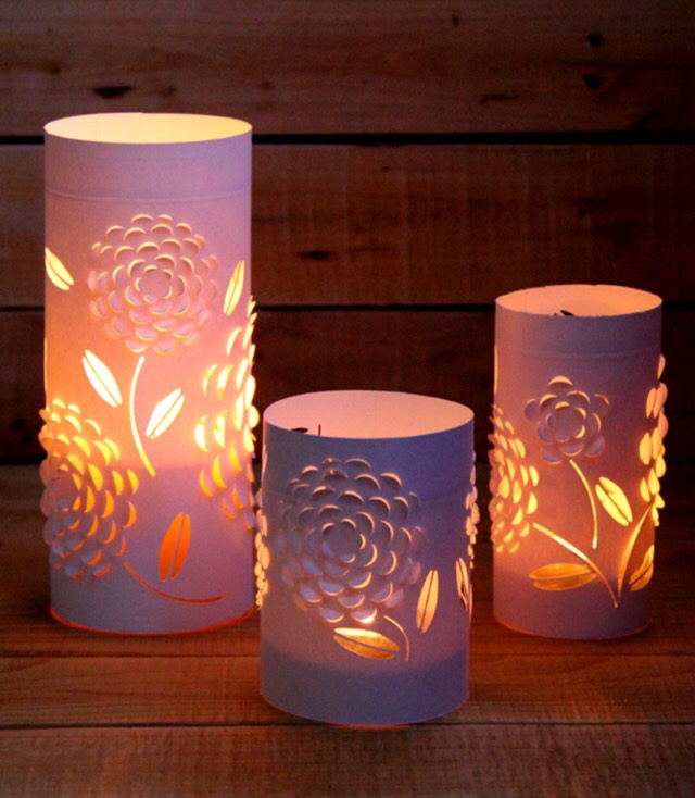 😍 Beautiful DIY 3D Paper Lanterns!! Super Easy! Colored And Non-Colored Lantern Tutorial :)😍